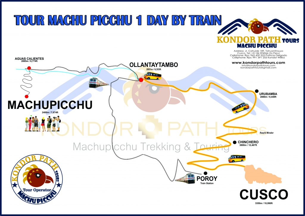tour machu picchu 1 day by train map
