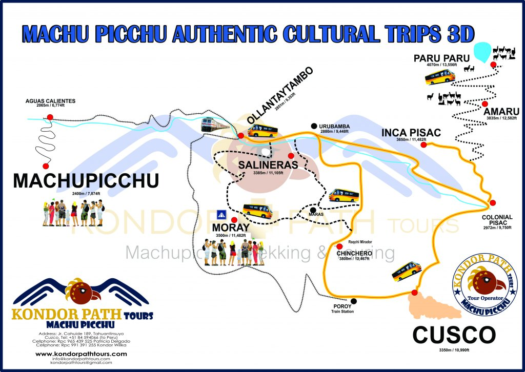machu picchu authentic cultural trips 3 day map