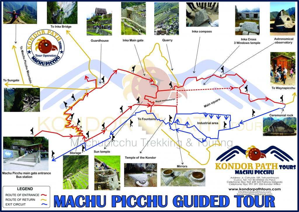 booking machu picchu private guided tour map